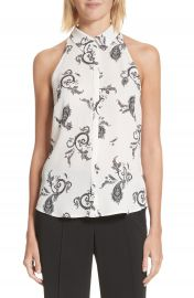 A L C  Nette Print Silk Top at Nordstrom
