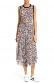 A L C  Sandra Cutout Silk Midi Dress at Nordstrom