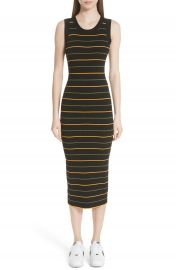 A L C  Shane Stripe Knit Midi Dress at Nordstrom