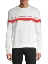 A P C  - Robin Striped Cotton Sweatshirt at Saks Fifth Avenue