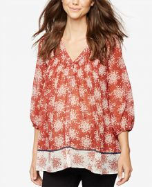 A Pea In The Pod Maternity Printed Boho Top at Macys