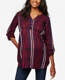 A Pea In The Pod Maternity Split-Neck Blouse at Macys