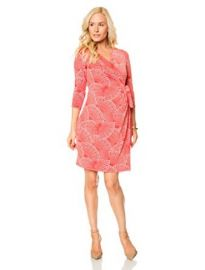 A Pea in the Pod 34 Sleeve Faux Wrap Maternity Dress at Amazon
