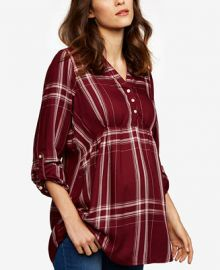 A Pea in the Pod Maternity Plaid Babydoll Tunic at Macys