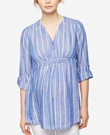 A Pea in the Pod Maternity Striped Denim Tunic at Macys