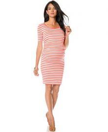 A Pea in the Pod Maternity Striped Sheath Dress at Macys