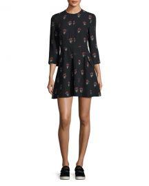 A.L.C. Terry Printed Silk Mini Dress at Neiman Marcus