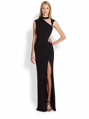 ABS - Nude-Cutout Column Gown at Saks Fifth Avenue