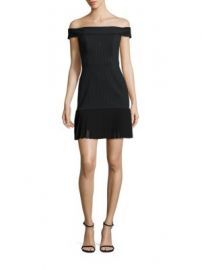 ABS - Off-The-Shoulder Pleated Hem Dress at Saks Fifth Avenue