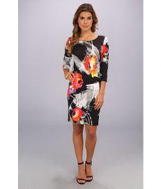 ABS Allen Schwartz Scratch Floral T-Shirt Dress Multi at 6pm