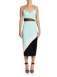ABS Colorblock Midi Dress at Saks Off 5th