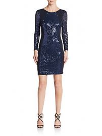 ABS Sequined Open Back Sheath Dress at Saks Off 5th