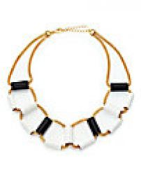 ABS by Allen Schwartz Jewelry - Black and White Tube Mesh Necklace at Saks Fifth Avenue