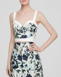 ABS by Allen Schwartz Top - Sleeveless Floral Print Bustier at Bloomingdales