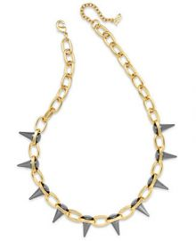 ABS by Allen Schwartz Two-Tone Spike Collar Necklace at Macys