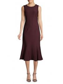 ADRIANNA PAPELL - OTTOMAN GODET FIT--FLARE DRESS at Lord & Taylor