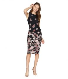 ADRIANNA PAPELL FALLING BLOSSOMS PRINTED SHEATH at Zappos