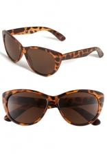 AJ Morgan Lana 57mm Sunglasses in tortoise at Nordstrom