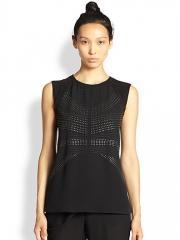 ALC - Ascher Studded Silk Top at Saks Fifth Avenue