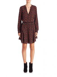 ALC - Leopard Legend Dress in Black Rust at Saks Fifth Avenue