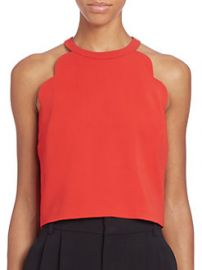 ALC - Sanger Scalloped Halter Top in Tomato at Saks Fifth Avenue