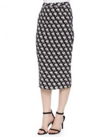 ALC Bell Dancers-Print Midi Pencil Skirt at Neiman Marcus