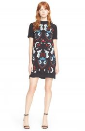 ALC Drake Print Silk T-Shirt Dress at Nordstrom