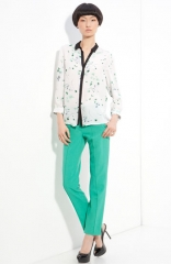 ALC Gillian Print Silk Blouse at Nordstrom