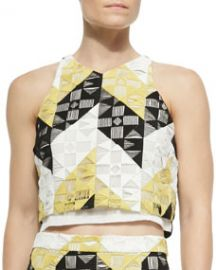 ALC Grace Sleeveless Ladder-Stitched Top at Neiman Marcus