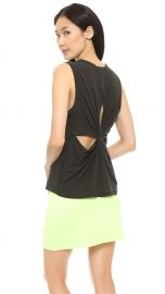 ALC Harper Twist Back Tank in Black at Shopbop