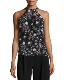 ALC Iggy Floral-Print Halter Top at Neiman Marcus