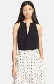 ALC Keaton Sleeveless Crepe Top at Nordstrom