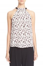 ALC Mari Print Silk Top at Nordstrom