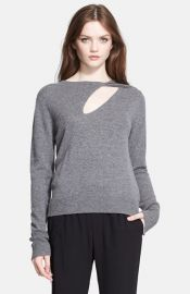 ALC Twist Detail Wool andamp Cashmere Sweater at Nordstrom