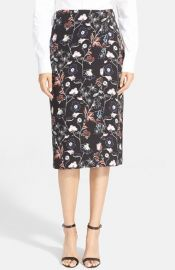 ALC and39Danielsand39 Floral Print Silk Skirt at Nordstrom