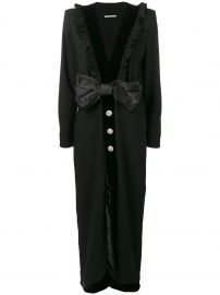 ALESSANDRA RICH BUTTONED BOW DRESS - BLACK at Farfetch