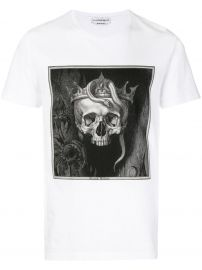 ALEXANDER MCQUEEN CROWNED SKULL T-SHIRT - WHITE at Farfetch