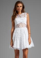 ALEXIS Finna Short Cocktail Dress in White Flower at Revolve