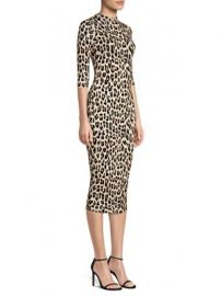 ALICE + OLIVIA - DELORA LEOPARD BODYCON DRESS at Saks Fifth Avenue