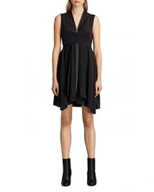 ALLSAINTS Jayda Zip-Front Silk Dress at Bloomingdales