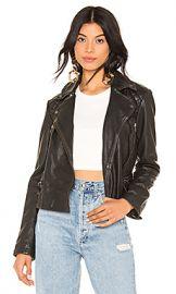 ALLSAINTS Cargo Leather Biker Jacket in Black from Revolve com at Revolve
