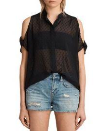 ALLSAINTS Irie Cold-Shoulder Shirt at Bloomingdales