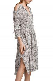 ALLSAINTS Lavete Paisley Cold Shoulder Midi Dress at Nordstrom