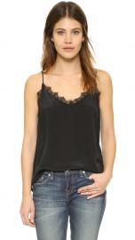 ANINE BING Silk Camisole black at Shopbop