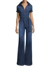 AO.LA BY ALICE OLIVIA - GORGEOUS COLLAR WIDE-LEG JUMPSUIT at Saks Fifth Avenue