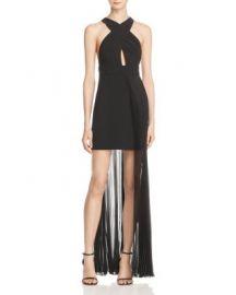 AQ AQ Ailla Pleated Overlay Dress at Bloomingdales