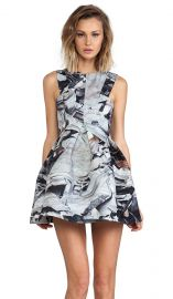 AQAQ Broad Walk Mini Dress in Scrap  REVOLVE at Revolve