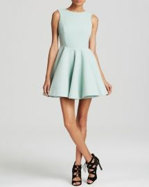 AQAQ Dress - Koko Deep V Back Scuba Fit and Flare at Bloomingdales