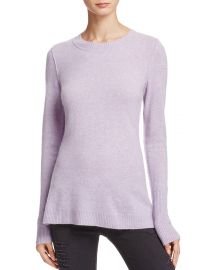 AQUA Cashmere Fitted Crewneck Sweater Heather Iris at Bloomingdales