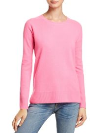 AQUA Cashmere High Low Crewneck Cashmere Sweater pink at Bloomingdales